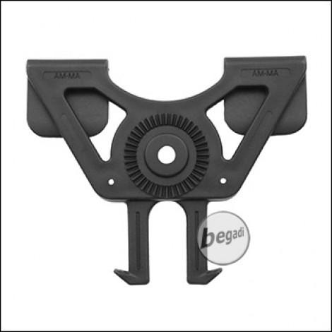 AMOMAX Molle / PALS Adapter für Hartschalenholster, schwarz [AM-MA]