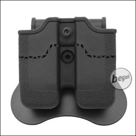 AMOMAX Paddle Hartschalen Magazintasche für USP / PPQ / VP9 etc. [AM-MP]
