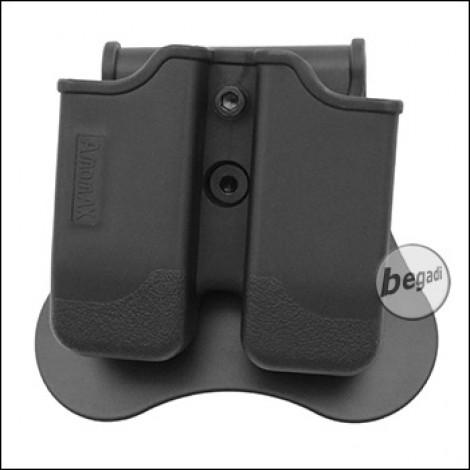 AMOMAX Paddle Hartschalen Magazintasche für P226 / M9 / CZ P-09 etc. [AM-MP-P2]