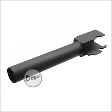 Army Armament R17 / KJW KP-13 - Outer Barrel- schwarz - mit 12mm CCW Gewinde