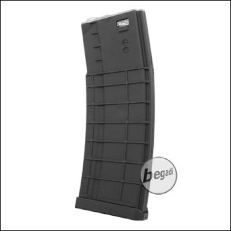 "Battleaxe M4 / M16 ""Square Style"" MidCap Magazin (140 BBs) -schwarz-"