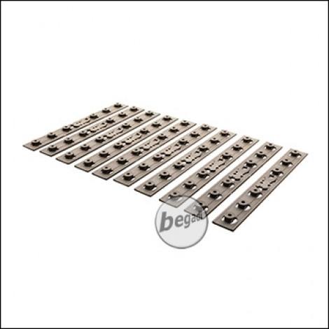 Battleaxe URX4 / KeyMod Handguard Rail Panels Set, TAN (10er Pack)
