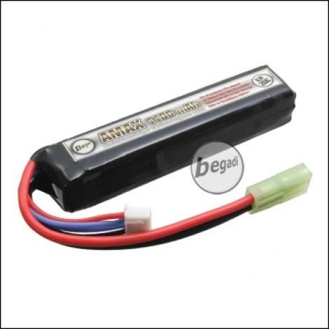 "Begadi ""AMAX"" LiPo Akku 11,1V 1100mAh 20C ""Compact Stick"" mit Mini TAM"