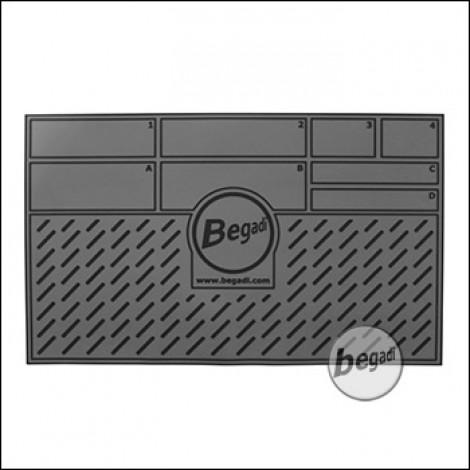 BEGADI Arbeitsmatte / Working Pad, 50 x 30cm - grau (Version 2)