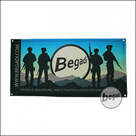 """Begadi Fahne """"Blue Sky"""", Fotodruck, 60x120cm, mit Ösen"""