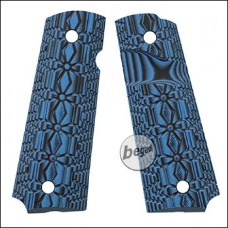Begadi G10 Griffschalen Set für KJW / WE / Army / Marui 1911 Serie  -blue cross-