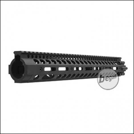 "Begadi HW4 DeluXe CNC M-LOK Handguard, schwarz - 20"" Version"