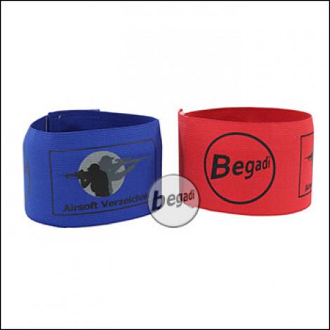 "Team Armband / Patch Set ""ASVZ Special Edition"", elastisch, rot/blau, 2er Pack"