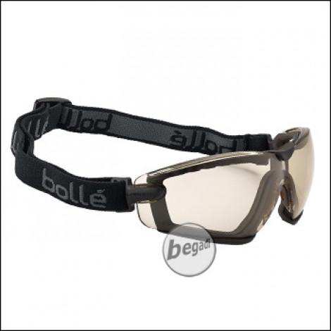 "Bollé Schutzbrille ""Cobra"", mit Schaumstoff & Kopfband, MilSpec zertifizierte BSSI Ausführung, CSP (PSSCOBRC13)"