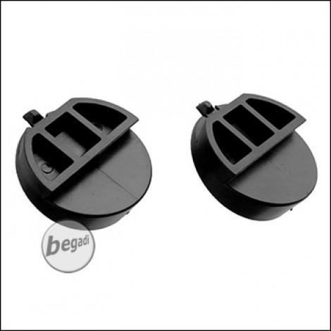 """Earmor M32H Helm Mount Adapter Set, """"klein"""" - schwarz, 2 Stück (für Mod 3)"""