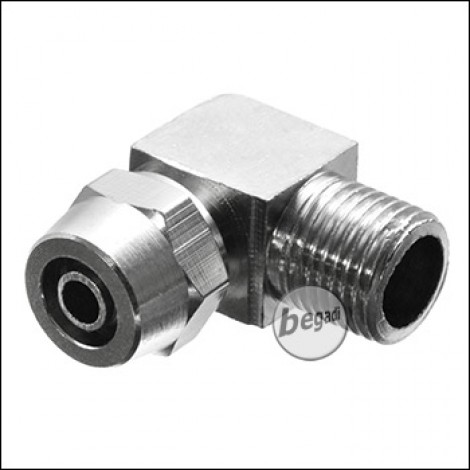 EPeS HPA 90° 6mm Schlauch Kupplung mit Schraubsicherung M6 [E058-1-8-OUT]