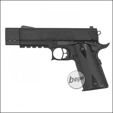 ICS KORTH PRS GBB, XL Version mit Kompensator -schwarz- (frei ab 18 J.)