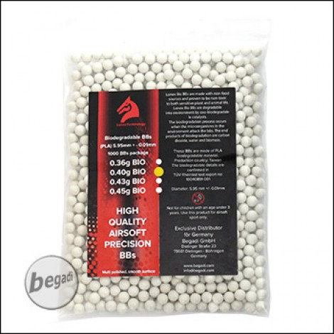 1.000 LONEX High Precision HEAVY BIO BBs 6mm 0,40g -hell-