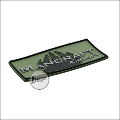 """3D Abzeichen """"MANCRAFT AIRSOFT"""" aus Hartgummi, mit Klett - olive/schwarz"""