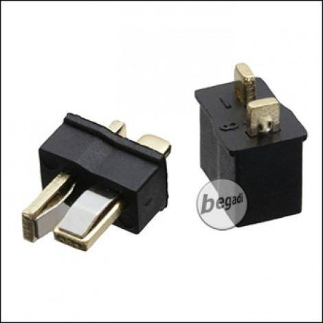 BEGADI Mini (!) DEAN / T-Stecker Set (Stecker + Buchse) -schwarz-
