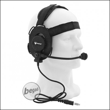 """PHX Funk Headset """"Archer"""" -schwarz-"""