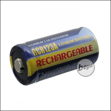 RCR123A Lithium Akku, Markenware