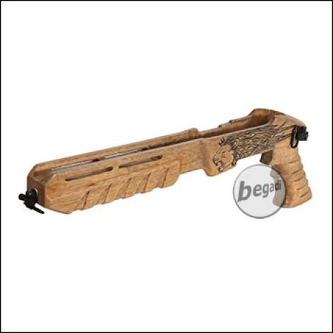 Taring Carving Echtholz Schaft für KJW KC-02 GBB - Design 1 (Lion)