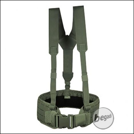 "VIPER Lasercut Koppel Set ""V-Harness"", bis 120cm  - olive"