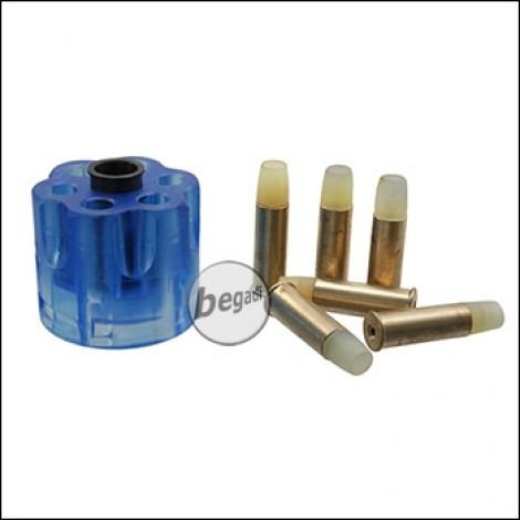 Hülsen für Well G293 CO2 Revolver inkl. Transportschutz (6er Pack)