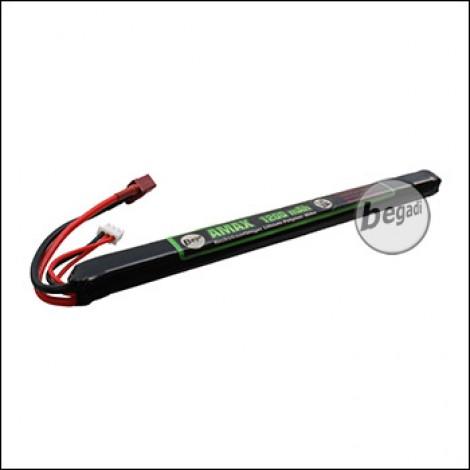 """Begadi """"AMAX"""" LiPo Akku 7,4V 1200mAh 25C -long- Single Stick mit Dean"""