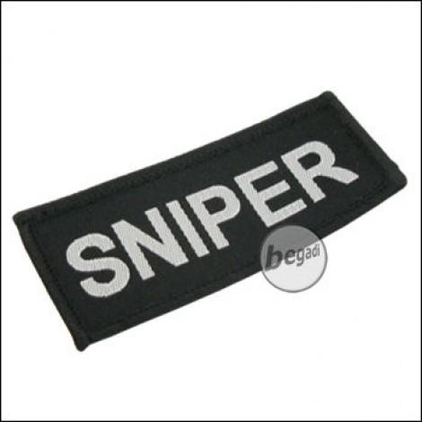 """Aufnäher """"Sniper"""", neue Version - schwarz"""
