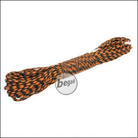 "BE-X Paracord ""Black & Orange"", 550lbs, 30m"