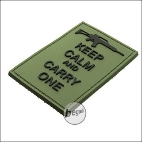 """BE-X 3D Abzeichen """"Carry an G36"""", aus Hartgummi, mit Klett - olive"""