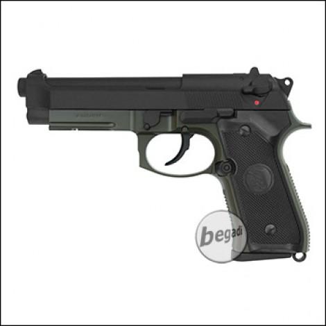 "KJW M9 A1 ""PRO"" GBB, olive, Gas Version (frei ab 18 J.)"