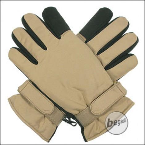 BE-X Mikrofaser Handschuhe, kurze Stulpe, TAN - Gr. XXL