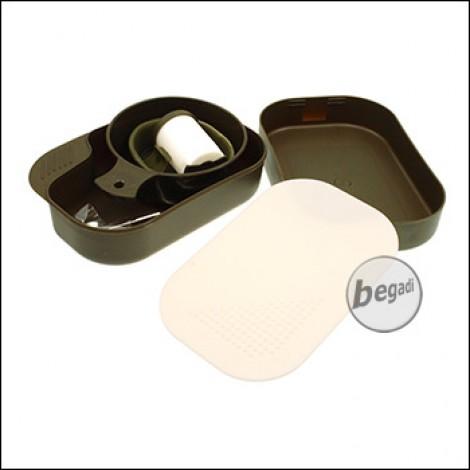 Fibega Essgeschirr aus Kunststoff - 9teilig