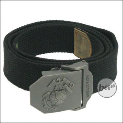 USMC Gürtel, 40 mm, schwarz