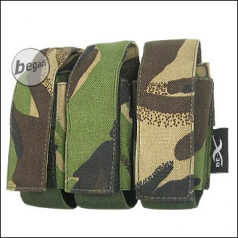 "BE-X Tasche ""40mm Shell"", triple - woodland DPM"