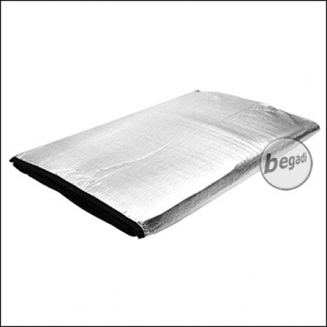 FIBEGA Isoliertes Groundsheet / Bodenplane, 220g, 145x185cm - silber