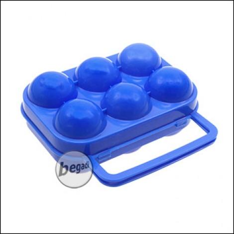 FIBEGA Eierbox für 6 Eier, mit Griff - blau