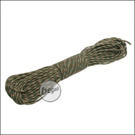 "BE-X Paracord ""Woodland camo"", 550lbs, 30m"