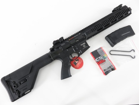 ICS PAR Mk3 CQB EBB S-AEG -schwarz- (frei ab 18 J.) inkl. UKSR Stock