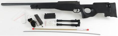 WELL MB01A Sniper inkl. Zweibein -schwarz- + EdGi Tuninglauf & Upgrade HopUp Gummi (frei ab 18 J.)
