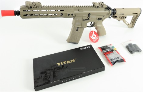 "ICS CXP-UK1 ""Combination Gearbox"" S-AEG -TAN-  mit umfangreichem Tuning [EdGi / MAXX HU / Maple Leaf / Titan / Retro etc.] (frei ab 18 J.)"