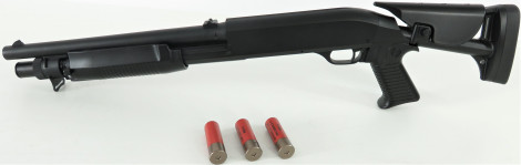 Begadi Sport Metall Shotgun -Tactical Version- (frei ab 14 J.) + Drosselung auf < 0 .5 Joule
