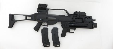 """Begadi HW60 """"K"""" AEG (<0,5 Joule) mit S&T ST316 Grenade Launcher -schwarz- (frei ab 18 J.)"""