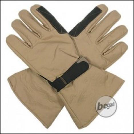 BE-X Mikrofaser Handschuhe, lange Stulpe, khaki