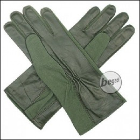 BE-X NOMEX Handschuhe, lang, Olive