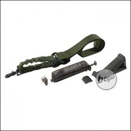 SET: Begadi 1 Punkt Bungee Sling + Angled Grip + Loading Tool - OLIVE