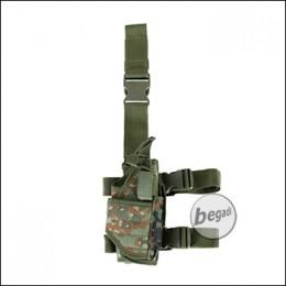 PHX Beinholster / Oberschenkel Holster, voll verstellbar - flecktarn