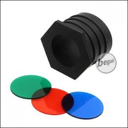 Begadi Universal Wegrollschutz mit 3 Farbfiltern