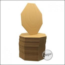 Begadi Standard IPSC Mini-Targets aus Karton (100 Stück)