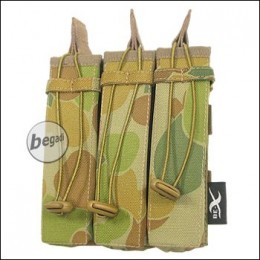 BE-X Open Mag Pouch, triple, für MP5 - auscam