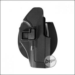 KYOU Hartschalenholster mit Paddle & Clip, für Glock - schwarz
