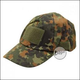MFH Tactical Cap mit Klettflächen - flecktarn